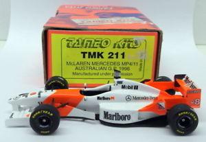 【送料無料】模型車 モデルカー スポーツカースケールキットマクラーレンメルセデスオーストラリアtameo 143 scale built kit tmk211 mclaren mercedes mp411 australian gp 1996