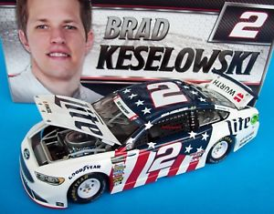 【送料無料】模型車 モデルカー スポーツカーブラッドフォード#サインbrad keselowski 2017 miller lite patriotic ford 2 signed autograph 124 nascar