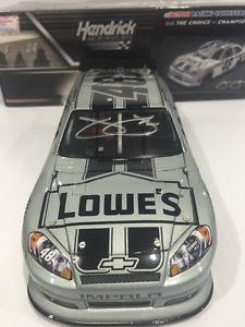 【送料無料】模型車 モデルカー スポーツカージミージョンソンロウ#コルテスシルバーレアサインjimmie johnson 2012 lowe039;s cortez silver rare 1504 autographed