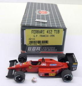 【送料無料】模型車 モデルカー スポーツカースケールキットフェラーリモナコベルガーbbr tameo 143 scale built kitmet24 ferrari 412 t1b monaco gp 1987 g berger