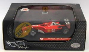 【送料無料】模型車 モデルカー スポーツカーホットホイールスケールフェラーリアデレードシューマッハーhot wheels 143 scale 50213ferrari f2001b adelaide 2002 m schumacher 1 of 500