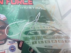 【送料無料】模型車 モデルカー スポーツカーサインジョンフォースマイレッジムスタングautographed john force castrol gtx high mileage 2003 mustang funny car