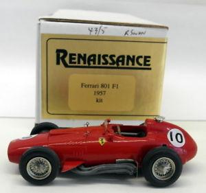 【送料無料】模型車 モデルカー スポーツカールネサンススケールキットフェラーリ#renaissance 143 scale built kit 801 ferrari 801 f1 1957 10