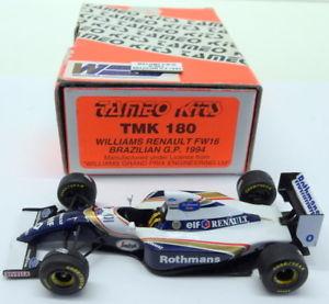 【送料無料】模型車 モデルカー スポーツカースケールキットウィリアムズルノーブラジルヒルtameo 143 scale built kit tmk180 williams renault fw16 brazilian gp 94 d hill