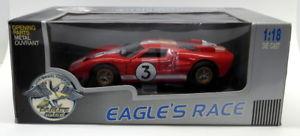 【送料無料】模型車 モデルカー スポーツカーイーグルスレーススケールフォード#ルマンモデルカーeagles race 118 scale 174002 ford gt40 3 red white le mans model car
