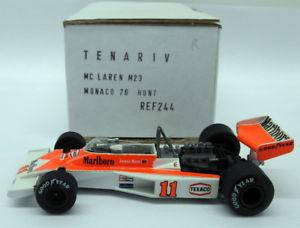 【送料無料】模型車 モデルカー スポーツカースケールキットマクラーレンモナコジェームズハントtenariv 143 scale built kit  244 mclaren m23 monaco gp 1976 james hunt