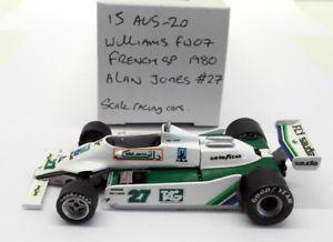 【送料無料】模型車 モデルカー スポーツカースケールキットウィリアムズフランスアランジョーンズ#src 143 scale built kit 15aug20 williams fw07 french gp 1980 alan jones 27