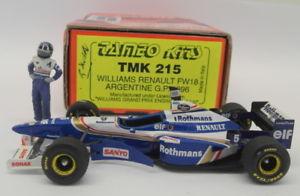 【送料無料】模型車 モデルカー スポーツカースケールキットウィリアムズルノーアルゼンチングランプリtameo 143 scale built kit  tmk215 williams renault fw18 argentine gp 1996