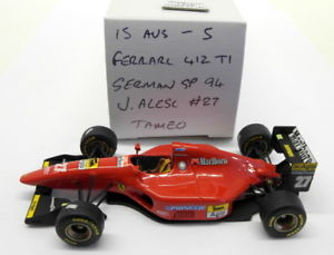 【送料無料】模型車 モデルカー スポーツカースケールキットフェラーリドイツアレジ#tameo 143 scale built kit 15aug5 ferrari 412 t1 german gp 1994 j alesi 27