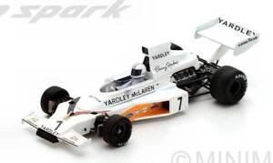 【送料無料】模型車 モデルカー スポーツカースパークモデルヒュームスウェーデンjm 2210311 spark model s5392 mc laren m23 d hulme 1973 n7 winner swedish gp 1