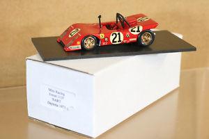【送料無料】模型車 モデルカー スポーツカーミニデイトナフェラーリガルシアmini rennsport modelle daytona 1971 ferrari 312p auto 21 garciaviega chinetti