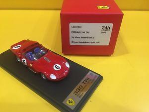 【送料無料】模型車 モデルカー スポーツカースマートフェラーリトライルマンヒルlook smart lslm 023ferrari 330 tri lemans 1962 o gendebien amp; p hill