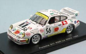 【送料無料】模型車 モデルカー スポーツカースパークモデルポルシェリタイヤjm 2143745 spark model s4444 porsche 911 rsr n56 dnf lm 1994 vuillaumegoueslar