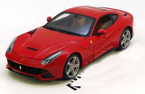 【送料無料】模型車 モデルカー スポーツカーホットホイールエリートフェラーリレッド118 hot wheels elite ferrari f12 berlinetta 2012 red