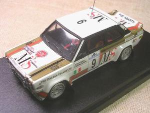 【送料無料】模型車 モデルカー スポーツカーフィアットアバルトラリーアルゼンチンレースfiat 131 abarth gr4 ms rally argentina 1980 bettega racing 43 143