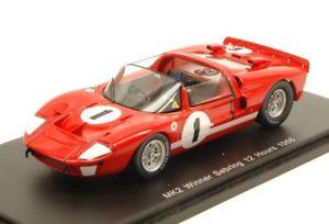【送料無料】模型車 モデルカー スポーツカースパークモデルフォードセブリングマイルルビーjm2145511spark model s43se66 ford mk2 n1 winner 12h sebring 1966 kmileslruby