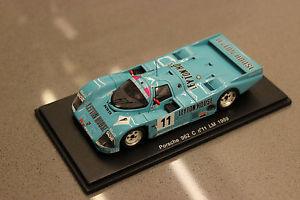 【送料無料】模型車 モデルカー スポーツカースパークスケールポルシェルマン#spark 143 scale kbs008 porsche 962 le mans 24h 1989 11
