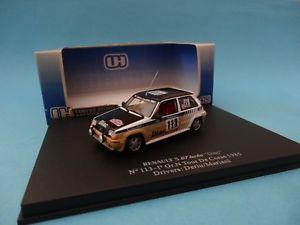 【送料無料】模型車 モデルカー スポーツカールノーグアテマラターボ#ツアーコルシカラリーユニバーサルシューズrenault 5 gt turbo r5 113 deriutour corse rally 1985 143 universal uh2463