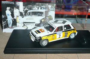 【送料無料】模型車 モデルカー スポーツカーターボラリーアンティーブmc43 143 r 5 turbo tdc 034;touchette034; ragnotti rally antibes 1984