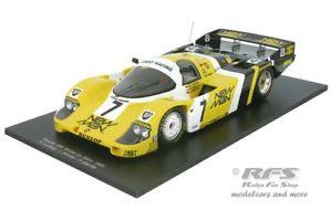 【送料無料】模型車 モデルカー スポーツカーポルシェルマンマンヨーストレーシングスパークporsche 956 winner 24h le mans 1985 man joest racing 118 spark 18lm85