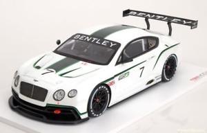 【送料無料】模型車 モデルカー スポーツカースケールベントレーコンチネンタルグアテマラサロンパリ118 true scale bentley continental gt3 concept car, salon paris 2012
