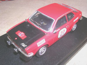 【送料無料】模型車 モデルカー スポーツカーフィアットクーペラリーエルバチェッカートスポーツチームトロンfiat 128 coupe 039;gr1 rally elba 1972 ceccato equipe tron 143 true