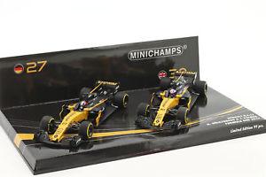 【送料無料】模型車 モデルカー スポーツカーパーマー#ルノーメートルn hulkenberg 27 amp; j palmer 30 2car set renault rs17 formula 1 2017 143 m