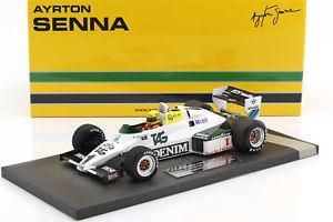 【送料無料】模型車 モデルカー スポーツカーアイルトンセナウィリアムズフォード#テストドニントンパークayrton senna williams ford fw08c 1 julitest donington park formula 1 1983 118