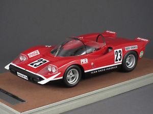 【送料無料】模型車 モデルカー スポーツカーミトスアバルト#シルバーストーン118 tecnomodel mythos abarth 2000 s 23 silverstone 1969e swart 141865