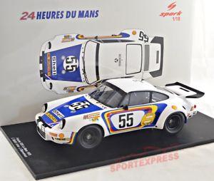 【送料無料】模型車 モデルカー スポーツカー#ルマンスパークポルシェカレラ 118 spark 18s298 porsche 911 carrera rsr, 24hrs, 55 lemans 1975