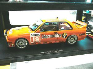 【送料無料】模型車 モデルカー スポーツカーイェーガーマイスター#チームリンダーbmw m3 3er e30 dtm 1992 jgermeister 19 hahne team linder s autoart 118