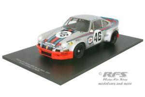 【送料無料】模型車 モデルカー スポーツカーポルシェカレラマティーニルマンミュラーヴァンporsche 911 carrera rsr martini 24h le mans 1973 muller van lennep 118 spark