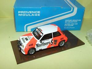 【送料無料】模型車 モデルカー スポーツカールノーターボラリープロストエクスアンプロヴァンスムラージュキットrenault 5 turbo rallye du var 1982 a prost provence moulage kit assembled 143