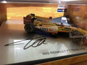 【送料無料】模型車 モデルカー スポーツカーフェルナンドアロンソルノーサインフォーミュラfernando alonso 1 43 norev renault signed autograph formula 1 f1