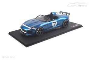 【送料無料】模型車 モデルカー スポーツカージャガープロジェクトコンセプトリアjaguar ftype project 7 conceptecurie ecosse blue 1 of 999topspeed 11