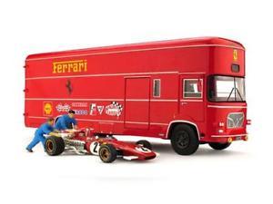 【送料無料】模型車 モデルカー スポーツカースクーデリアフェラーリモデルom 160 rolfo scuderia ferrari 312b t car 2 meccanici brumm 143 ts04b model