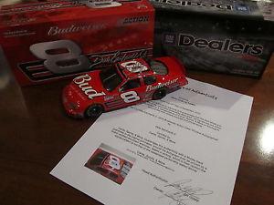 【送料無料】模型車 モデルカー スポーツカーデイルアーンハートジュニアアクションディーラー#バドワイザーモンテカルロdale earnhardt jr signed 2003 action dealers 8 budweiser monte carlo w coa