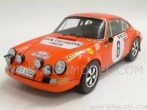 【送料無料】模型車 モデルカー スポーツカーポルシェ#モンテカルロラリーporsche 911 s 6 winner monte carlo rally 1970 waldegaard 118 spark 18s029