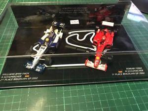 【送料無料】模型車 モデルカー スポーツカーシューマッハユニークスペースブラジルグランプリフォーミュラschumacher brothers set no 2 unique 1 amp; 2 space brazil gp 2002 formula 1 143