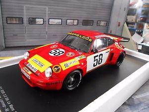 【送料無料】模型車 モデルカー スポーツカーポルシェカレラルマンロース#スパークporsche 911 carrera rsr 30 le mans gelo loos 1975 58 spark resin  118