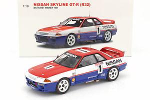 【送料無料】模型車 モデルカー スポーツカースカイラインrリチャーズnissan skyline gtr r32 1 bathurst gangant 1991 skaife, richards 118 autoart