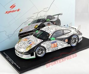 【送料無料】模型車 モデルカー スポーツカーヌフスパークポルシェグアテマラルマン#neuf 118 spark 18s149 porsche 911 gt3 rsr, 24hrs lemans 2014, 67