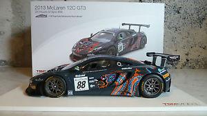 【送料無料】模型車 モデルカー スポーツカーマクラーレングアテマラスパ#tsm truescale 118 2013 mclaren 12c gt3 24 hours of spa 88 limited tsm141823r