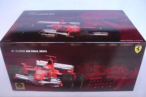 【送料無料】模型車 モデルカー スポーツカーホットホイールフェラーリブラジルミハエルシューマッハhot wheels 118 ferrari f2006 brazilian gp michael schumacher j2996