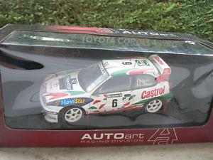 【送料無料】模型車 モデルカー スポーツカートヨタカローララリーグレートブリテンオリオールtoyota corolla wrc rally great britain auriol 118 autoart boxed