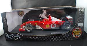 【送料無料】模型車 モデルカー スポーツカーマテルホットホイール#フェラーリシューマッハmattel hot wheels 54643 2002 ferrari 1ere schumacher edition 118 mib