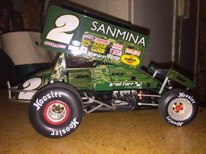 【送料無料】模型車 モデルカー スポーツカーブラッド#キャメロンスケールスプリントカーbrad furr sanmina 2 limited edition world of outlaws 118 scale sprint car