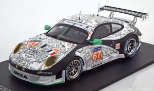 【送料無料】模型車 モデルカー スポーツカースパークポルシェグアテマラ#ルマン118 spark porsche 911 997 gt3 rsr 67 le mans 2014