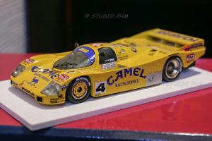 【送料無料】模型車 モデルカー スポーツカーポルシェブランモータースポーツキャメルルマンスパークporsche 962c 4 brun motorsport camel 24h du mans 88 ultra rar 143 no spark