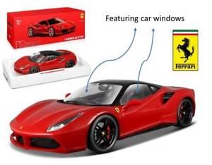 【送料無料】模型車 モデルカー スポーツカーフェラーリシグネチャーモデルjm 2145364 bburago bu16905r ferrari 488 gtb red signature 118 model